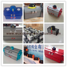 China rack and pinion pneumatic actuator atex pneumatic actuator supplier  for ball valve butterfly valve supplier