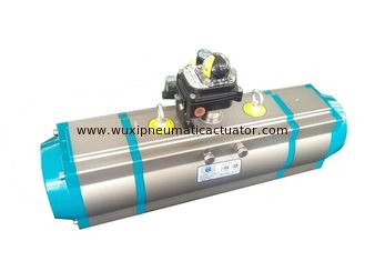 China three way valve with pneumatic actuator pneumatic power valves supplier