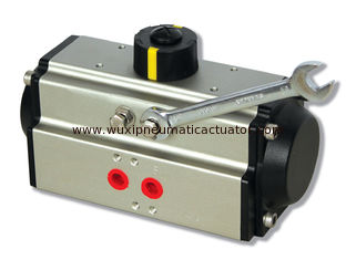 China AT pneumatic actuators double action and spring return  pneumatic flow control valve supplier
