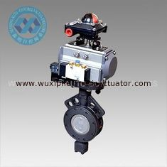 China Pneumatic Actuator  Metal Hard Sealed Stainless Steel Butterfly Valve supplier