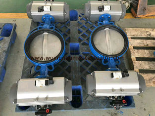 China Butterly valves with pneumatic rotary  actuator cylinder control supplier