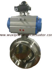 China R&P aluminum alloy double action and spring return pneumatic rotary actuator supplier