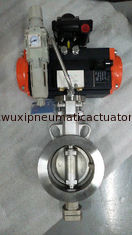 China Pneumatic triple eccentric butterfly valve Pneumatic actuator control butterfly valves supplier