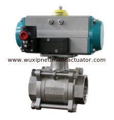 China Ball valve with pneumatic rotary actuators double acting and spring return supplier