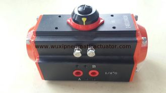 China The dual cylinder rack and pinion pneumatic actuator AT Series supplier