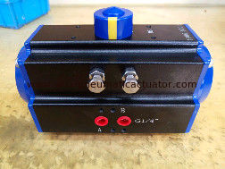 China Double action DA83 black body with dark blue caps pneumatic actuator supplier