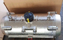 China stainless steel 304 316 material pneumatic rotary actuator for valves supplier