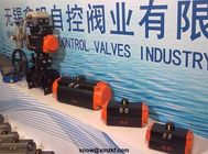AT series double action or single action black body pneumatic rotary actuator for butterfly valve and ball valve supplier