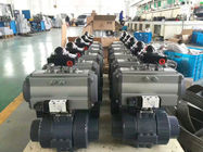 AT Series Pneumatic Actuator Flow Control Ball Valves Butterfly Valves supplier