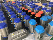 Rack And Pinion Pneumatic Actuators Aluminum Alloy Hard Anodizing Body supplier