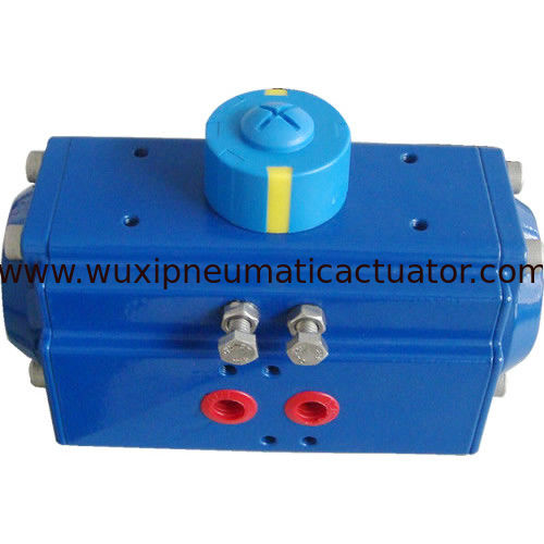 AT series double action and spring return pneumatic rotary actuator for butterfly valve or ball valve supplier