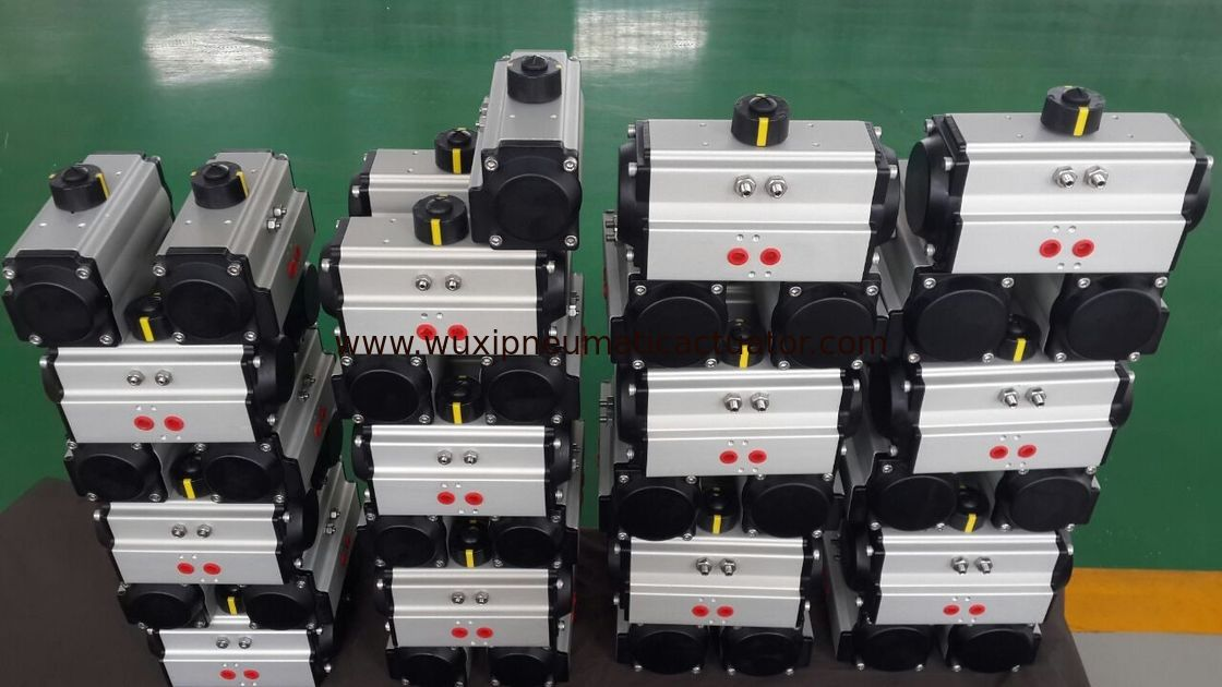 AT series double action or single action pneumatic rotary actuator for butterfly valve and ball valve supplier