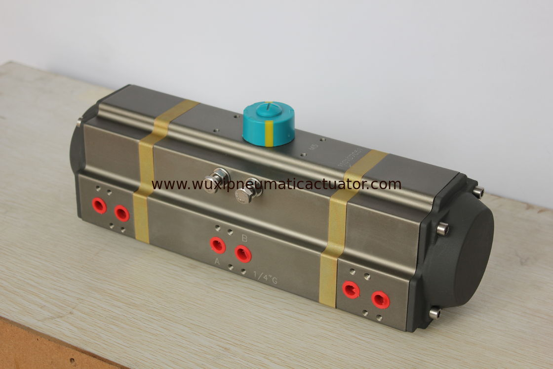 three stage 3 position customized aluminum alloy  pneumatic rotary actuator for auto-control valves supplier