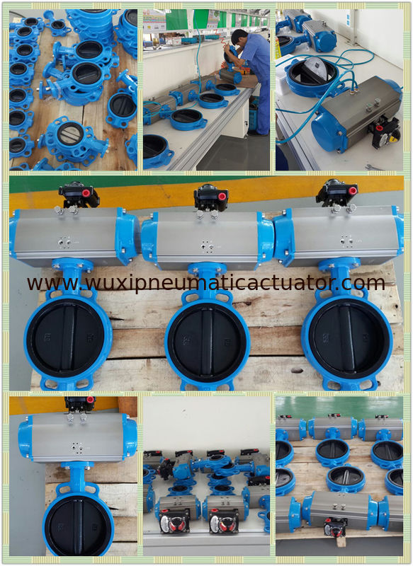 pneumatic rotary actuator  control for butterfly  valves supplier