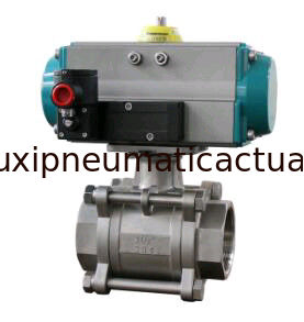 Ball valve with pneumatic rotary actuators double acting and spring return supplier