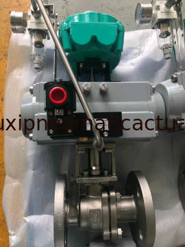 rack and pinion single acting pneumatic actuator control valve supplier