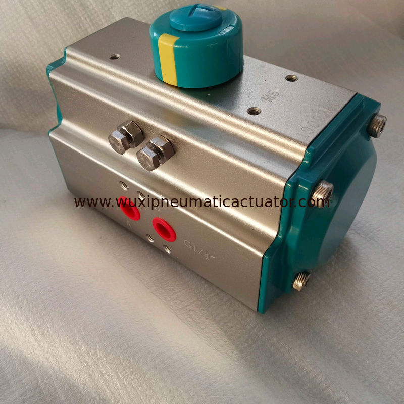 AT Series 5021  green color rack and pinion pneumatic actuator control valve supplier