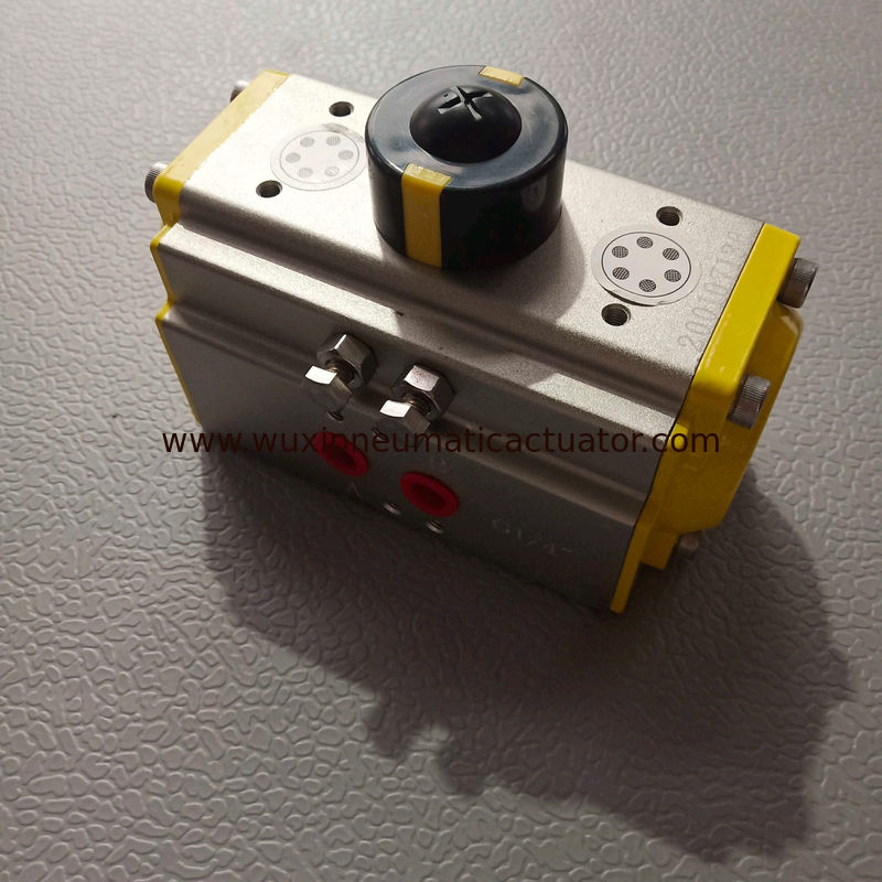aluminum alloy  grey body with yellow caps pneumatic actuator supplier