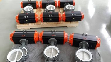 AT series double action and single action pneumatic rotary actuator for butterfly valve or ball valve
