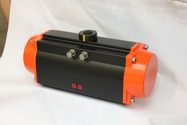 valves pneumatic rotary rack and pinion actuator black body orange caps colour
