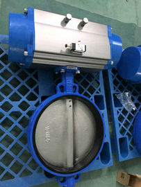 Pneumatic Butterfly Valve , Pneumatic Operated Butterfly Valve By Spring Return Double Acting Actuator