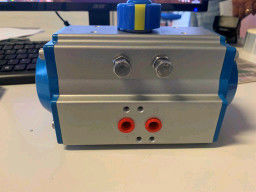 China aluminum alloy  ø75mm double-acting, pneumatic 1/4  turn rotary actuator factory