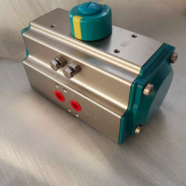 AT Series 5021  green color rack and pinion pneumatic actuator control valve