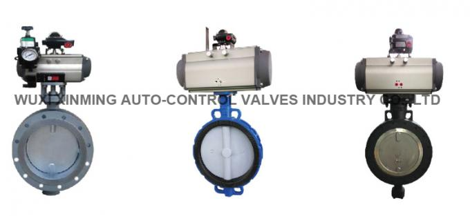 Pneumatic Metal Hard Sealed Stainless Steel Butterfly Valve
