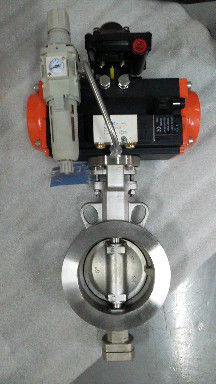 Pneumatic triple eccentric butterfly valve Pneumatic actuator control butterfly valves