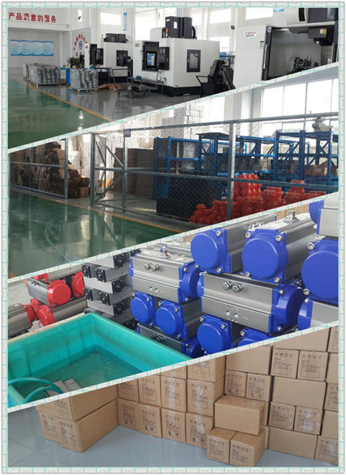 rack and pinion air rotary actuators auto control butterfly valve