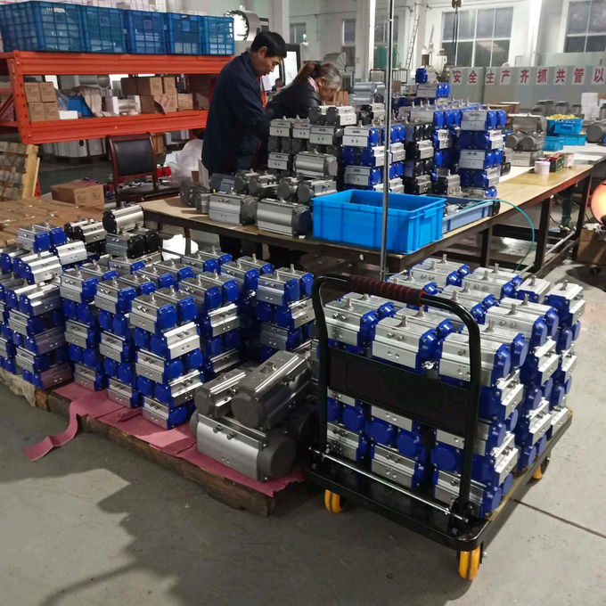 Motores Pneumatic Rack And Pinion Actuator Control Valves ISO5211 2